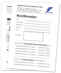 Vorschau Bestellformular für Diamant-Schleifscheiben